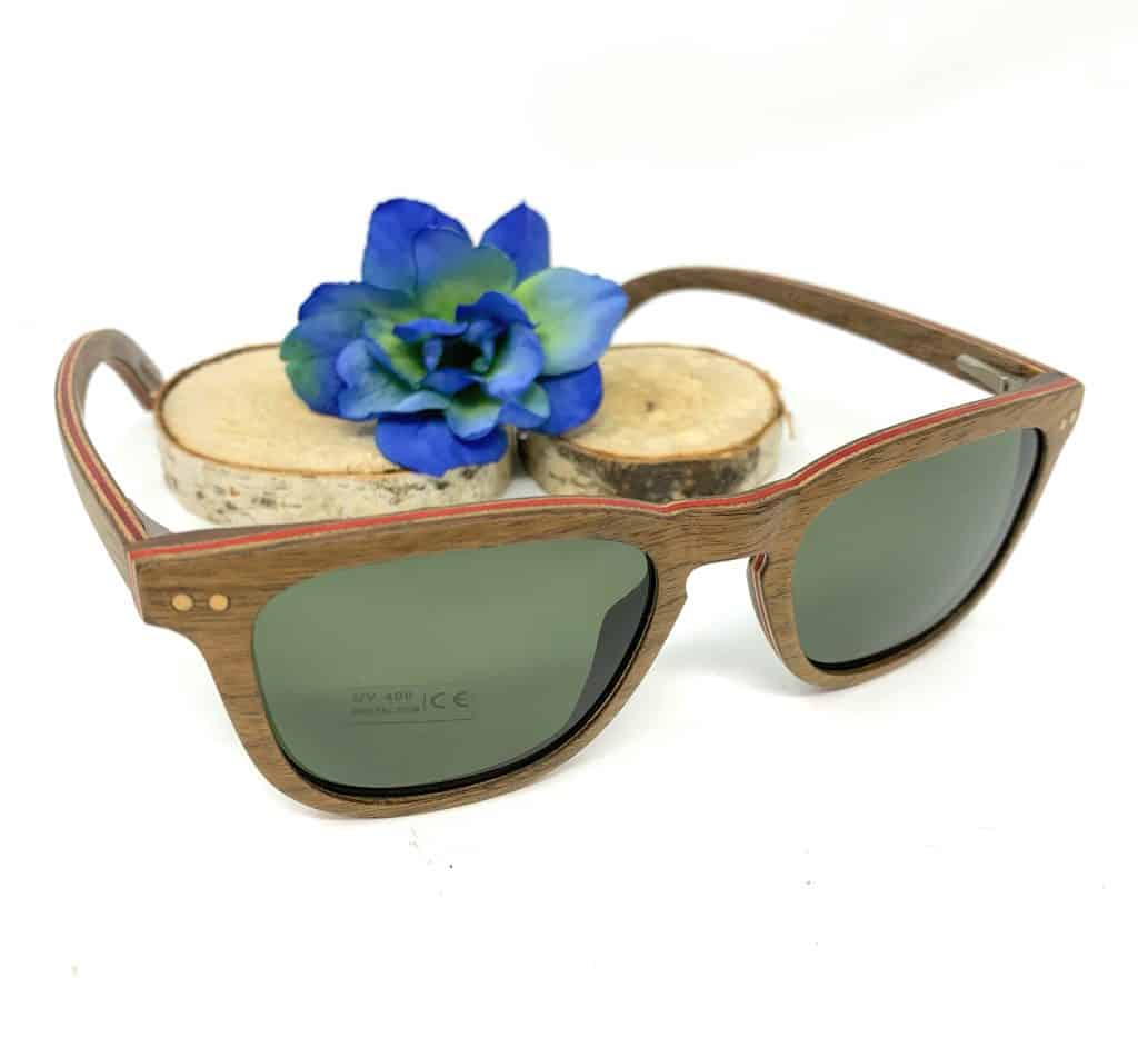Lunette de soleil UV400 en bois de bamboo | Hommes, femmes et adolescents | Fabrique Créative